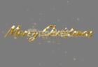 メリークリスマステキスト モーショングラフィックス動画素材