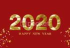 2020ハッピーニューイヤー、文字の動画フリー素材