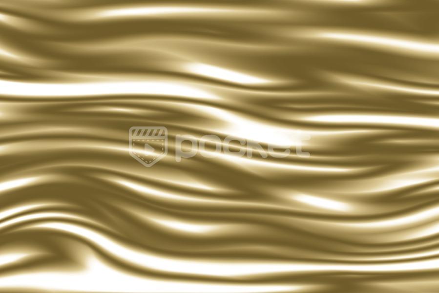 ゆっくりと流れるシルク風のライン(金)