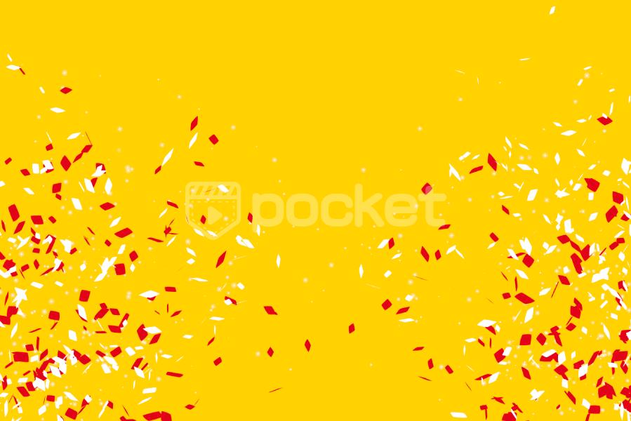 紅白の紙吹雪(クラッカー)お正月