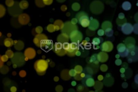 幻想的、ロマンチックを演出する玉ボケ背景(夏-緑)無料動画素材
