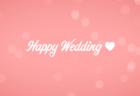 結婚式用無料動画素材ハッピーウエディング ピンク