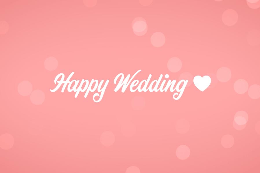 結婚式用 シンプルなハッピーウエディング(ピンク)