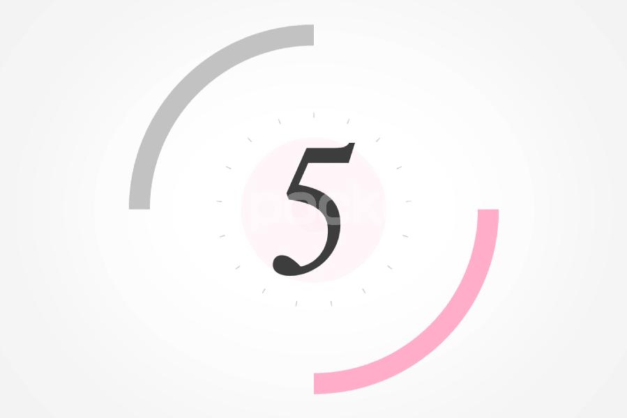 5秒カウントダウン⏱サークル状(ピンク)