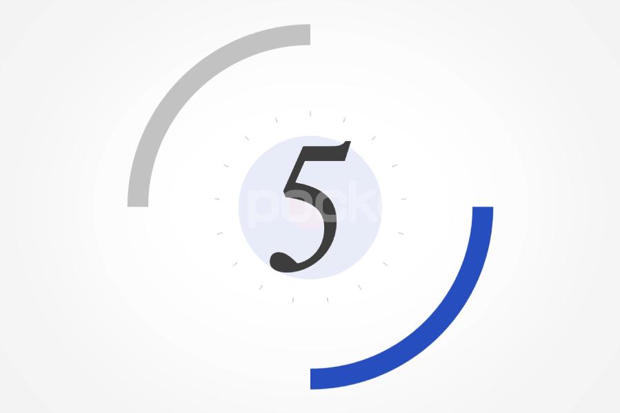 5秒カウントダウン⏱サークル状(青)