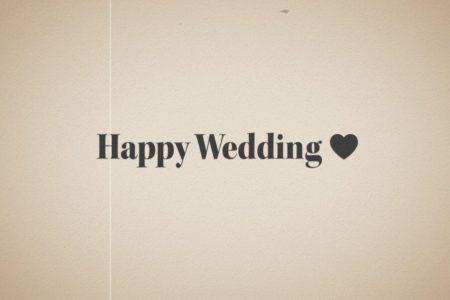 結婚式用無料動画素材ハッピーウエディング レトロ