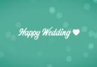 結婚式用無料動画素材ハッピーウエディング エメラルドグリーン
