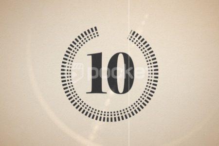 10秒カウントダウン無料動画素材 フィルム・ノスタルジック・結婚式・オシャレ風