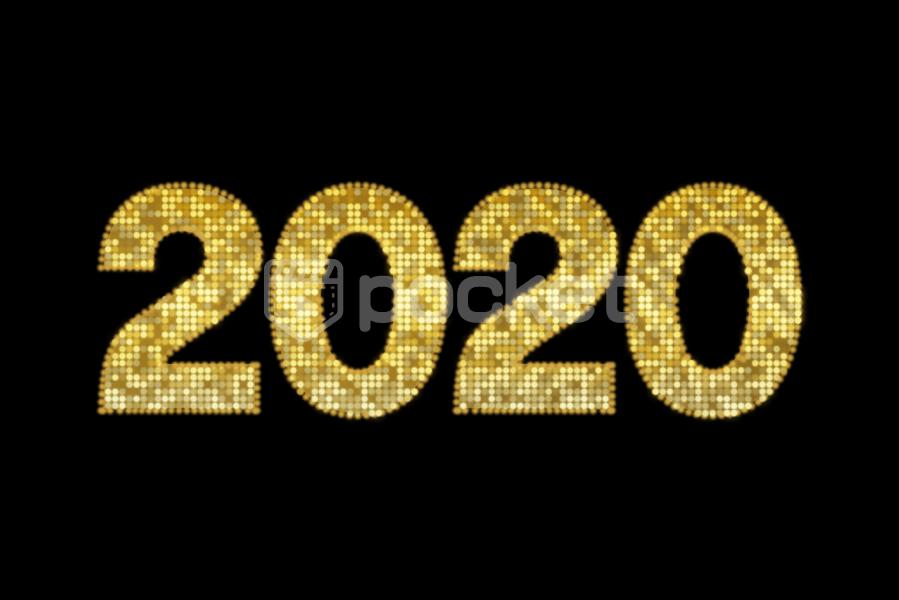 2020年用 ビーズ風 ドットアニメーション文字