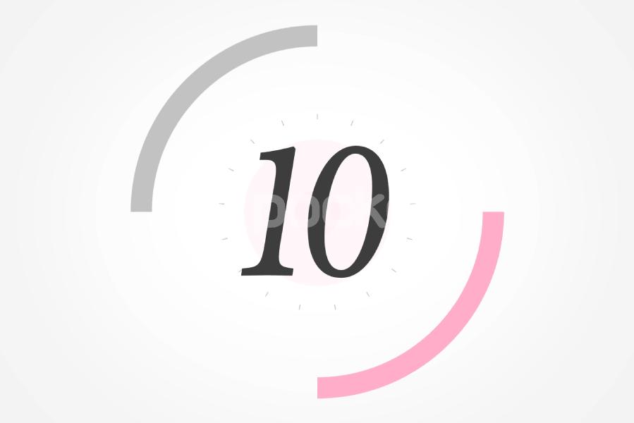 10秒カウントダウン⏱サークル状(ピンク)