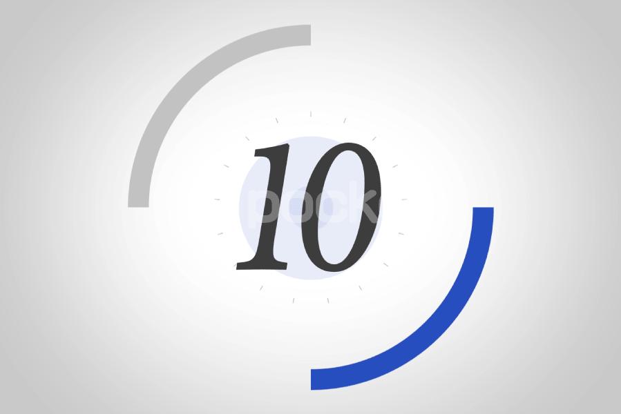 10秒カウントダウン⏱サークル状(青)