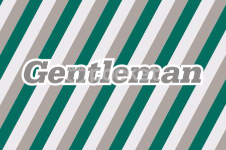 ジェントルマン ストライプアニメーション無料動画素材