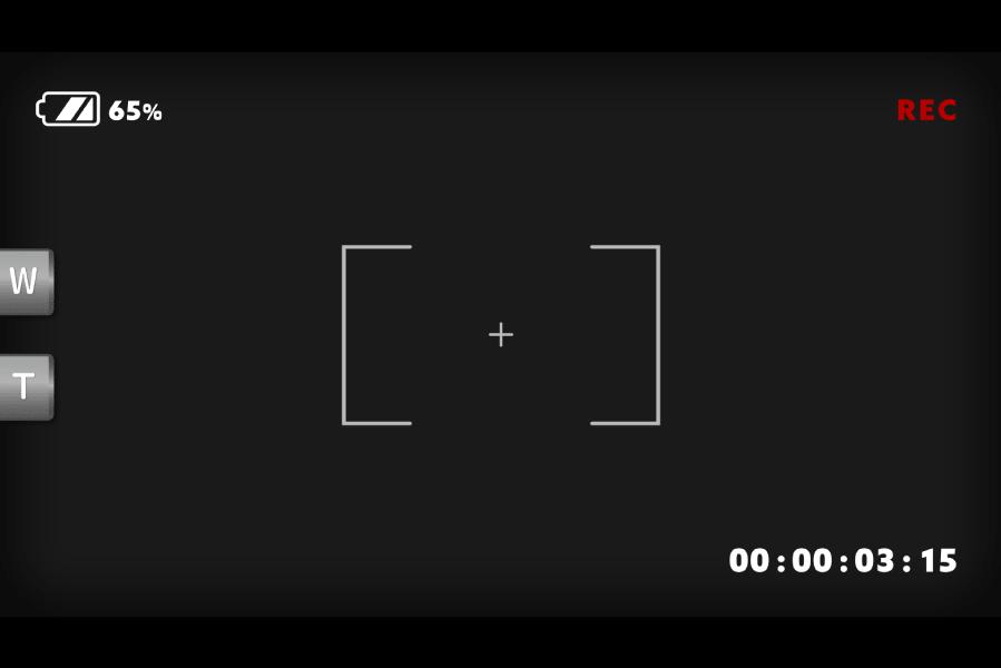 ビデオカメラで撮影中(録画) モニター