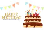 お誕生日おめでとう!動くバースデーカード 無料フリー動画素材のビデオポケット