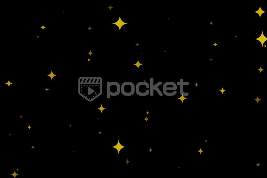 画面一杯に星をキラキラ アニメ風
