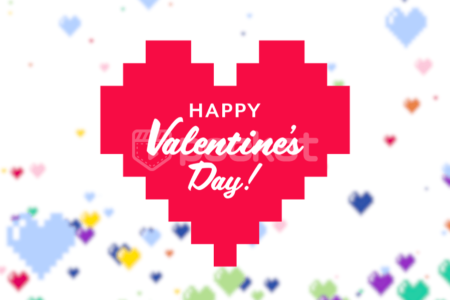 Happy Valentine dot design heart free material video pocket