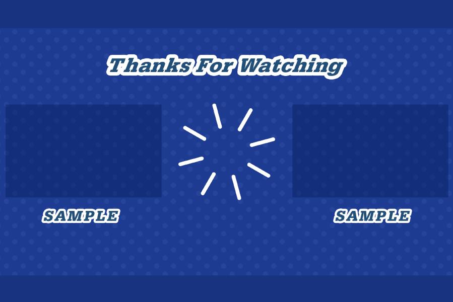ドット柄(青) YouTubeエンディング背景
