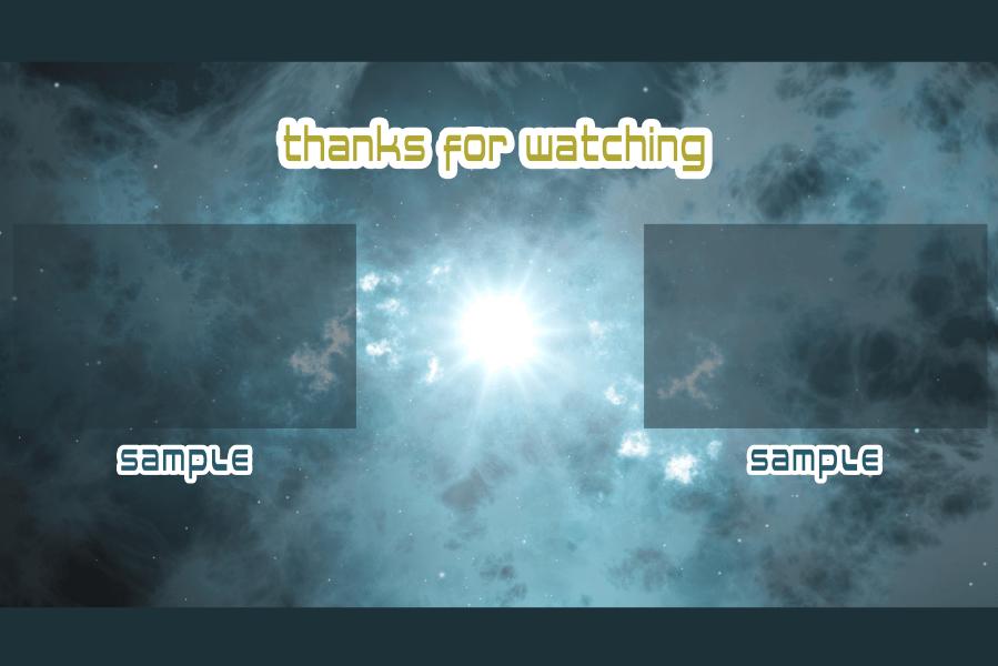 宇宙・銀河 YouTubeエンディングテンプレート用背景