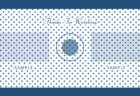 クラシックブルーのドット柄YouTube終了画面フリー素材のビデオポケット