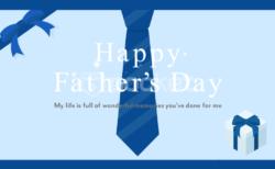 父の日メッセージグリーティングカード動画、お父さんありがとう