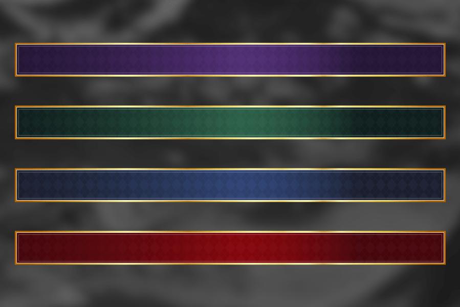 高級感のあるテロップベース(4色セット)