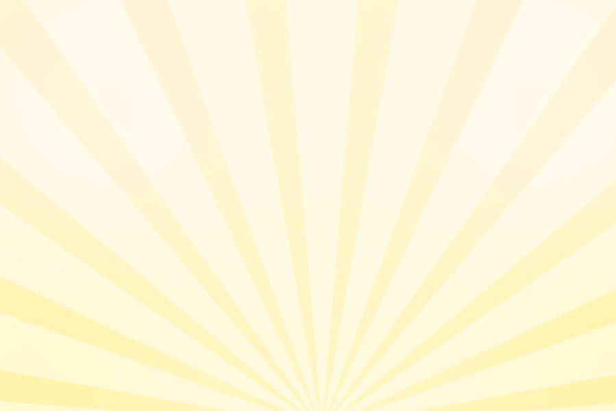 放射状アニメーション背景素材(パステル黄色)ループ