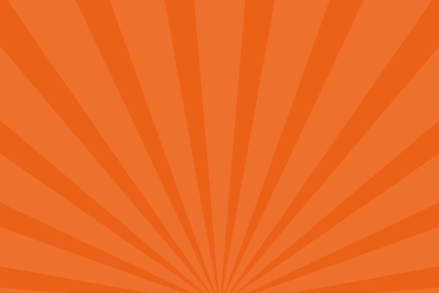 放射状アニメーション背景素材(オレンジ)ループ