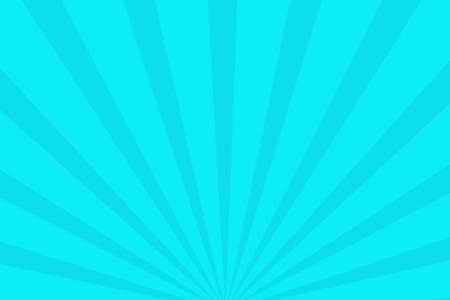 放射状アニメーション背景素材(スカイブルー)ループ可能