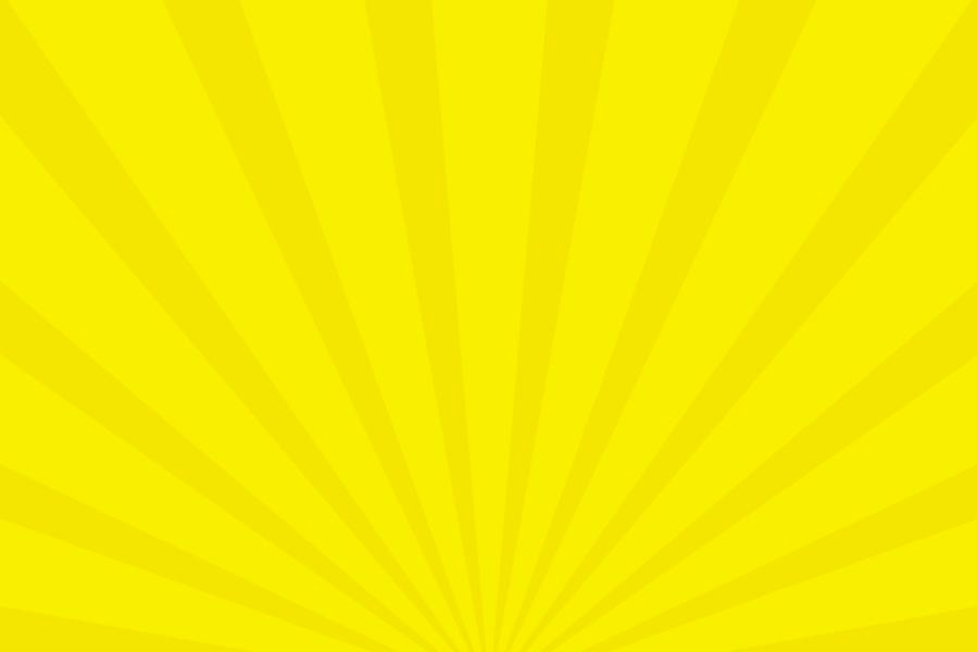 放射状アニメーション背景素材(黄色)ループ