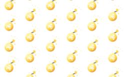 爆弾イラストアニメーション無料フリー素材-ゴールド