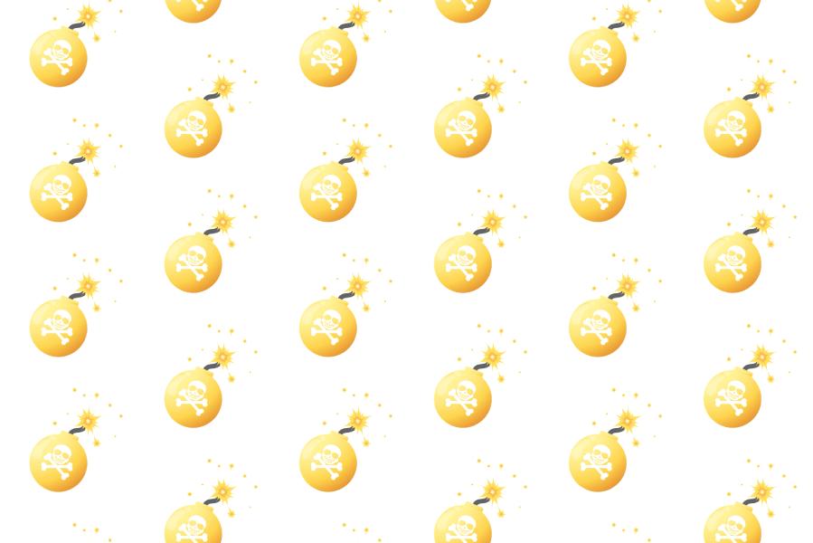 爆弾イラストアニメーション背景-金