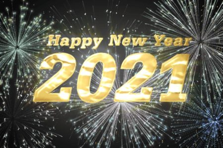 Happy New Year 2021! Free video material of Happy New Year Fireworks