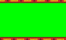 DANGER(危険)CAUTION(注意)規制線テープ動画素材